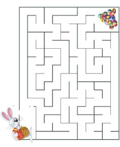 Mazes For Kids, Printable Activities For Kids, Preschool Activities, Easter Worksheets, Free Printable Numbers, Maze Puzzles, Paper Puppets, Art Drawings For Kids, Language Activities