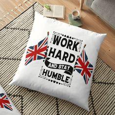 England Shirt, Stay Humble, Floor Pillows, Work Hard, Euro, Pillow Covers, Flooring, Shirts, Pillow Case Dresses