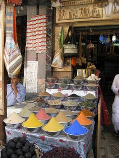 Spice market in Egypt. #spices, markets, Egypt