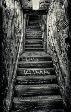 Lower Manhattan Stairwell (Houston Street, New York City)