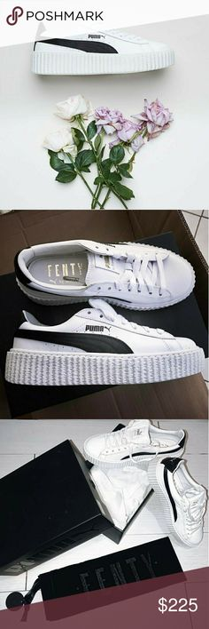Rihanna Fenty creepers White cracked leather creeper Puma colab with Rihanna  Comes with Fenty dustbag and box  I also have size 5.5 and 6.5 available Puma Shoes Sneakers
