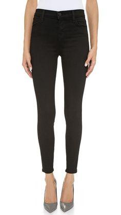 // J Brand High Rise Black Jeans