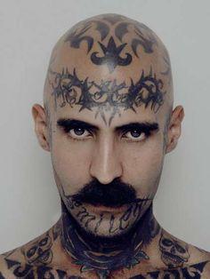 Head Tattoos  #tattoo #wtf