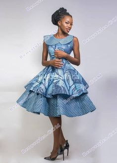 the most beautiful designs of the modern shweshwe - Reny styles African Print Skirt, African Print Clothing, African Print Fashion, Africa Fashion, African Fashion Dresses, African Prints, African Clothes, Traditional Dresses For Kids, South African Traditional Dresses