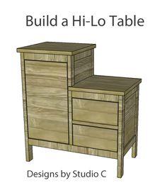 Build a Hi-Lo End Table