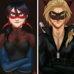 Chat Noir and Ladybug As Adults