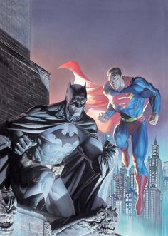 Batman and Superman, Alex Ross paint over Jim Lee's pencils. That's so awesome