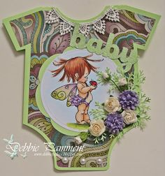 Debbie P's Place: A Baby Onesie Card
