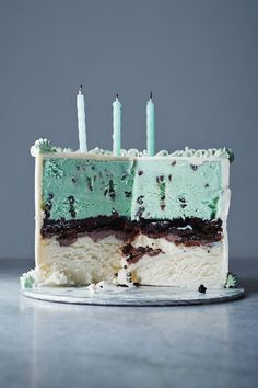 A birthday cake NEVER looked so good, and by GOOD we mean heavenly minty goodness! #VanillaMint