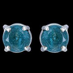 Silver earrings, CZ, stone