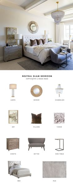 A neutral glam bedroom for Emily of the Ivory Lane designed by Alice Lane Home gets recreated for less by copycatchic luxe living for less budget home decor and design room redos and daily finds