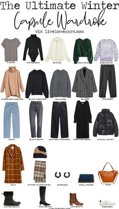 Casual Chic, Capsule Wardrobe Work, Winter Wardrobe Essentials, Simple Wardrobe, Fashion Capsule, Mode Inspiration, Dressing, Simple Outfits, Winter Outfits