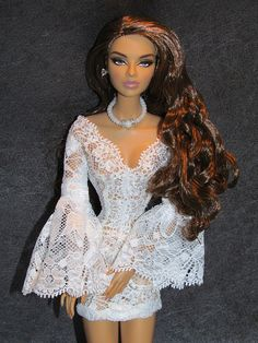 ♡✿♔Life, likes and style of Creole-Belle♔✿✝♡ Barbie Wedding Dress, Barbie Dress, Barbie Clothes, Fashion Royalty Dolls, Fashion Dolls, Girl Fashion, Fashion Outfits, Lingerie Chic, Diva Dolls