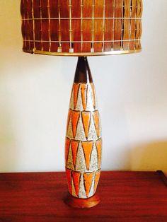 Danish orange lamp