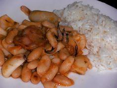 ♥ Mimos de Mãe ♥: Feijoada de Choco Yams, Chocolate, Shrimp, Chicken, Food, Bean Stew, Essen, Chocolates, Meals