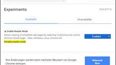 Google Chrome: Browser bekommt bald Lesemodus | heise online