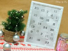 Adventný kalendár (Aladine, Stampo Noël) Autocad, Advent Calendar, Scrapbooking, Stamp, Cards, Design, Noel, Advent Calenders, Stamps