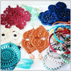 Ile Roby bijoux: my personal bijoux - crochet earrings