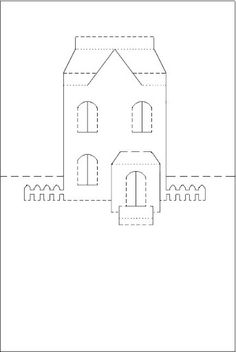 christmas house templates step by step instructions make it easy