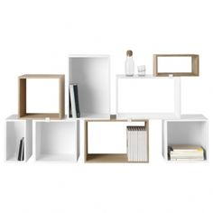 Stacked shelf module small, ash
