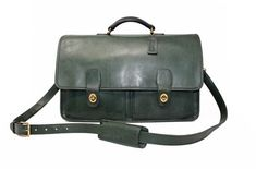 Cheap Coach Bags, Coach Tote Bags, Vintage Purses, Vintage Coach, Green Leather, Tan Leather, Briefcases, Black Gloves
