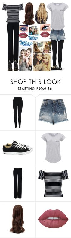 """riley amd maya"" by pandaderpienes ❤ liked on Polyvore featuring L.K.Bennett, River Island, Converse, ASAP, Maison Labiche, STELLA McCARTNEY, Miss Selfridge, Lime Crime, Dr. Martens and Disney"
