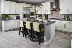 Many homebuyers like large rectangular/plank-style tiles in living & kitchen areas.   Tate model home in Northern California   http://www.richmondamerican.com/California/Sacramento-new-homes/Elk-Grove/The-Preserve-at-Laguna-Ridge/Tate/?taa=HB&td=Pinterest&ls=Online&cmpid=PINTEREST