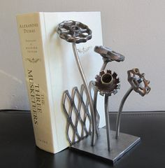 Flower Garden Welded Metal Sculpture by TabDesign on Etsy, $225.00
