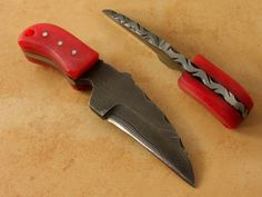 3.6 inch Pocket Knife Stained Camel Bone Handle with free knife sheath by ETLINES, $39.85