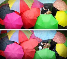 Shelly & Kevin's rainy day wedding