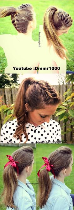 Love this!!! Great hairstyle for school!!!!!!!