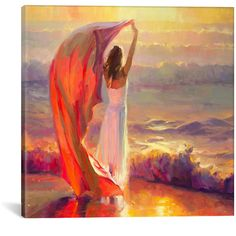 Ocean Breeze by Steve Henderson Canvas Wall Art ($119) ❤ liked on Polyvore featuring home, home decor, wall art, canvas wall art, sea wall art, ocean wall art, ocean canvas wall art and ocean home decor