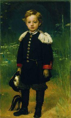 Portrait of Sergei Kramskoy, the Artist`s Son, 1883 by Ivan Kramskoy (Russian 1837-1887)