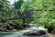 Footbridge over l'Areuse in Neuchatel, Switzerland by Architect Geninasca Delefortrie