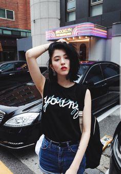 Korean Actresses, Korean Actors, Pretty Korean Girls, Asia Girl, Girl Crushes, Role Models, Asian Beauty, Short Hair Styles, Girl Fashion