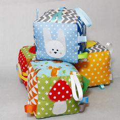 Jouet Eveil #Bébé, #Cube Eveil, #Hochet Bébé, Jouet #Sensoriel Bébé, Inspiration Montessori, Cadeau