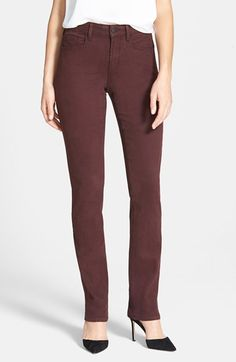 Free shipping and returns on NYDJ 'Samantha' Colored Slim Stretch Jeans (Regular & Petite) at Nordstrom.com. A choice of dark neutrals with tonal topstitching enhances the lean look of stretchy jeans with a subtle swoop of embroidery detailing the back pocket. For an extra boost of slimming, exclusive lift-tuck technology helps flatten the tummy and lift the rear.