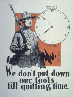 #WWI War #Poster. Honorable Discharge. Victory. $12.99. On VintPrint.com.