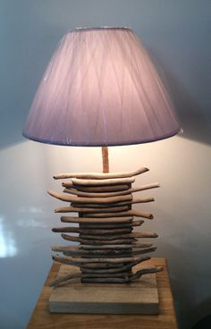 Lampe en bois flotté 3