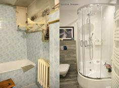 Jak odnowić małą łazienkę tak, aby była jednocześnie funkcjonalna i stylowa? Zobaczcie metamorfozę małej łazienki z lat 70., w której udało się połączyć te elementy.