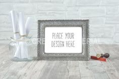 Frame Mockup | Letter | Stamps | #8 by Creative-Material on @creativemarket