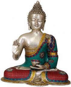 "BUDDHA~""The key to knowing joy is being easily pleased."" ~ Mark Nepo * Shakyamuni Buddha Preaching His Dharma lis Gautama Buddha, Buddha Buddhism, Buda Zen, Buddhist Philosophy, Arte Country, Tibetan Art, Egyptian Symbols, Effigy, Detail Art"