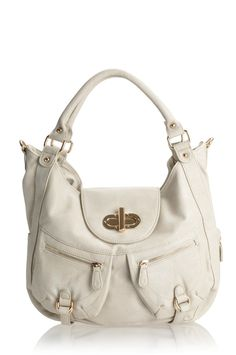 Melie Bianco Alyssa expandable shoulder bag with front pockets