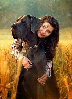 Big hugs for Big dog
