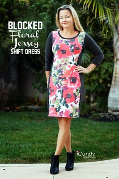 icandy handmade: Floral Jersey Dress