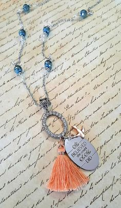 She Believed She Could So She Did  Quote by MissGawdysJewelry