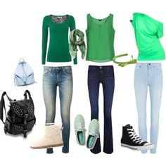 """Leaf Green"" by yazzumi on Polyvore"