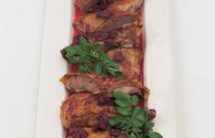 Crisp Roast Duck with a Confit of Sour Cherries - Roasts - Recipes - from Delia Online Easy Dinner Recipes, Easy Meals, Dinner Ideas, Roast Duck, Roasting Tins, Cherry Recipes, Sour Cherry, Sunday Roast, Outdoor Cooking