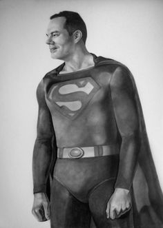 This is the drawing I did of Damon as Superman.