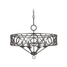 Crystorama Lighting Modern Chandelier in English Bronze Finish | 9248-EB | Destination Lighting
